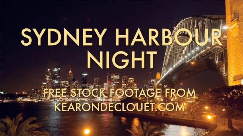 Sydney Harbour at night –Timelapse