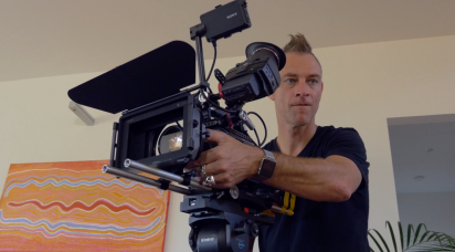 On the 'Sanctuary' TV commercial shoot with Kearon deClouet